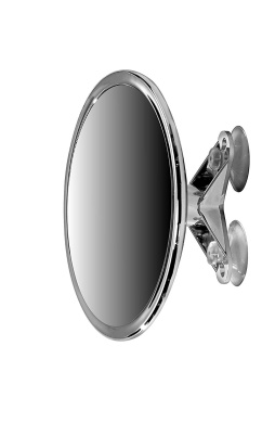 15cm Suction Mount Mirror - 5X Magnifying Vanity Makeup Mirror with 3-Point Super Suction, Pivoting, Rotating and Locking Suction
