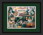 Michigan State Spartans Tailgate Print 38cm x 46cm