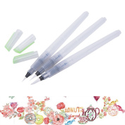 TUANTUAN 3 Pcs/Set Stored Water Brush Pens,Assorted Brush Tips,Pilot Ink Pen for Art Students Amateur and Professional Artists Calligraphy Watercolour Painting