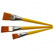 ZHOUXINXING 3Pcs/Set, Nylon Hair yellow Wood Long Rod Big Oil Painting Brush Drawing Art Supplies