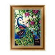 JUA PORROR 5D Diamond Embroidery Peacock Painting Cross Stitch Art Craft Home Decoration