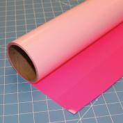 ThermoFlex Plus Neon Pink 38cm x 0.9m Iron on Heat Transfer Vinyl by Coaches World