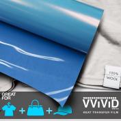 VViViD HTV Sky Blue 30cm x 0.9m (90cm ) Iron-on Heat Transfer vinyl film
