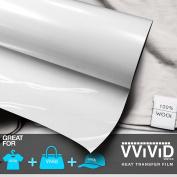 VViViD HTV White 30cm x 0.9m (90cm ) Iron-on Heat Transfer vinyl film