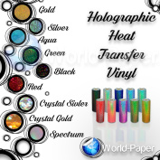 HOLOGRAPHIC Heat Transfer Vinyl IRON-ON 50cm x 30cm