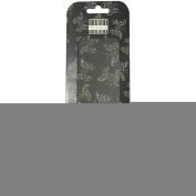 """Deco Mache Paper 26cm """"X14.190cm """" 3/Pkg-Noir Et Chic, Black Butterfly"""