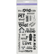NEW! MultiCraft Classic Theme Clear Stickers-It's A Dog's Life