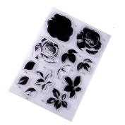 Flowers and leaves Design Clear Stamps For DIY Decorative Gift Card Metal Crafts Embossing Folder Arts