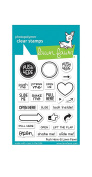 Lawn Fawn LF1415 Push here clear stamps