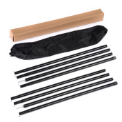 Black Universal Canopy Porch Tent Upright Pole for Tarp Tent Cover Awning