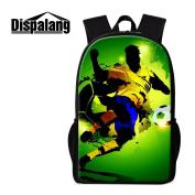 Dispalang Soccer Backpack Football 3D Print Bookbag Children Adults Travelling Bag Day Pack