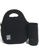 Black Neoprene Lunch Bag