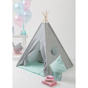 grey star Teepee Kids Play Tent kids play house children teepee