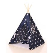 Blue star kids Play Teepee 100% Cotton Canvas Portable Indoor Tent for Boy and Girls children playhouse