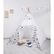 Black star Teepee Kids Play Tent kids play house
