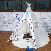 Small tree Play Teepee 100% Cotton Canvas Portable Indoor Tent for Boy and Girls children playhouse