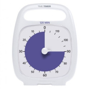 Time Timer PLUS 120 Minute Visual Analogue Timer; Optional Alert (Volume-Control Dial); Silent Operation (No Ticking); Time Management Tool