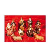 Set of 9 figurines nativity Resin 20x17.5x4 cm