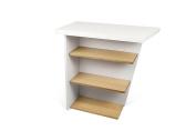 Temahome Pisa Console Table, Wood, white/oak, 80 x 38 x 80 cm