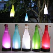 Lixada 5PCS Solar Powered Bottle Light Sense Cork Wine LED Garden Yard Lighting Hanging Lamp for Outdoor Party Garden Patio Pathway Decor