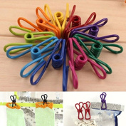 VIPASNAM-Metal Clamp Clothes Laundry Hangers Strong Grip Washing Pin Pegs Clips 10X gg