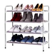 Excelvan XM-419S Stackable Adjustable 4-Tier Shoe Rack Shoe Tower Shelving Storage Organiser for Entryway Closet Living Room Bedroom