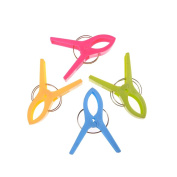 CosCosX 4 pcs Durable Beach Towel Clips for Sunbeds in Bright Colours