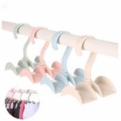 GOOTRADES 360 Degree Over the Rod Tie/Handbag Closet Organiser Hanger