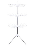 Tamengi Multifunction Collapsible Clothes Drying Rack 3-Tier Clothes Dryer for Hanging Laundry Storage Shelf