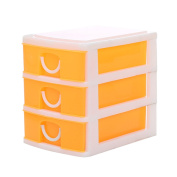 Mochiglory Mini 3 Drawers Storage Box Jewellery Display Case Holder Desktop Organiser 4 Colours