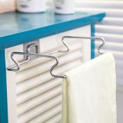 VANKER U Shape Stainless Steel Garbage Bags Kitchen Rack Towel Hanging Holder Storage