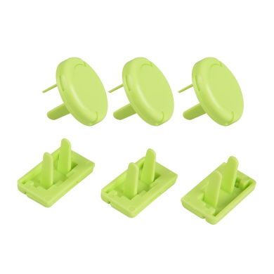 TankerStreet Safety Plug Socket Covers Protector,Outlet Plug Cover Baby Clidren Proof Guards 6 Count (Lime Green)