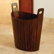 Wastebasket-Zebra Wood
