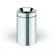 Round Open Top Stainless Steel Wastebasket Can Without Lid, Large, 6L
