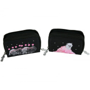 Canvas Purse with Two Compartments Black Noir et Rose CHIEN