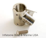Boat Hand Rail Fitting- 60 Degree T / Tee Hinged / Split - 2.5cm - 316 Marine Stainless Steel