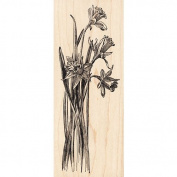 Daffodil Plant Rubber Stamp