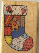 Comotion Patch Stocking Wood Mounted Rubber Stamp #891