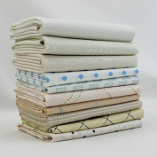 White Low Volume Precuts Fat Quarter Bundle (LV.10FQ) by Mixed Designers for Southern Fabric
