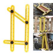 Angle Ruler, Angle Measurement Tool,Smartdoo Angle-izer Template Tool Multi-Angle Measuring Ruler General Tools for Carpenter