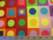 Colorworks Concepts Colourful Large Blocks Northcott Cotton Fabric 20794-44