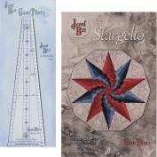 Bundle of Gem 30 Ruler (GEM30) and Stargello Quilt Pattern (Finished Size 100cm x 110cm Decagon), by Phillips Fibre Art,