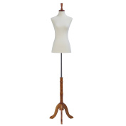 Mannequin Body Dress Form Small 2-4 Size 80cm 60cm 90cm Female, Non-Straight Pinnable Beige Form