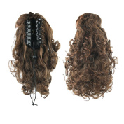 USIX 33cm Hair Piece Full Wrap Around Ponytail Extension Curly Nature Looking Heat-Resisting Ponytail Extension