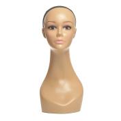 L7 MANNEQUIN Wigs Display Mannequin Head 46cm Skin Colour Female Mannequin Head For Wigs Display