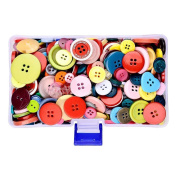 Supla 300Pcs Colourful Buttons Various shades and styles Different Shapes Buttons - Sewing Buttons in a Plastic Box