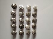Thaienjoy Buttons 2.1 cm. Colour Silver