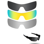 Fiskr Anti-saltwater Polarised Replacement Lenses for Oakley Oil Rig 3 pair pack