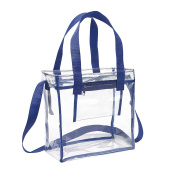 Deluxe NFL Stadium Approved Clear Bag with Adjustable Shoulder Strap and Handles / 12 x 12 x 6 Clear Tote Bag