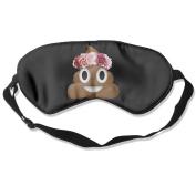 Sleeping Eye Mask Flower Crown Poop Emoji Natural Silk Eye Mask Cover With Adjustable Strap